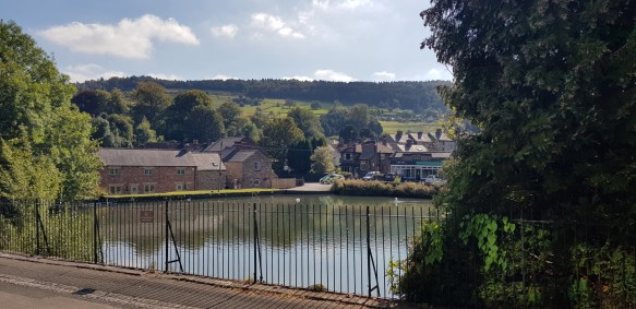 The Mill Pond as viewed from the Scarthin.