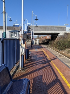 Hucknall station, looking northwards.