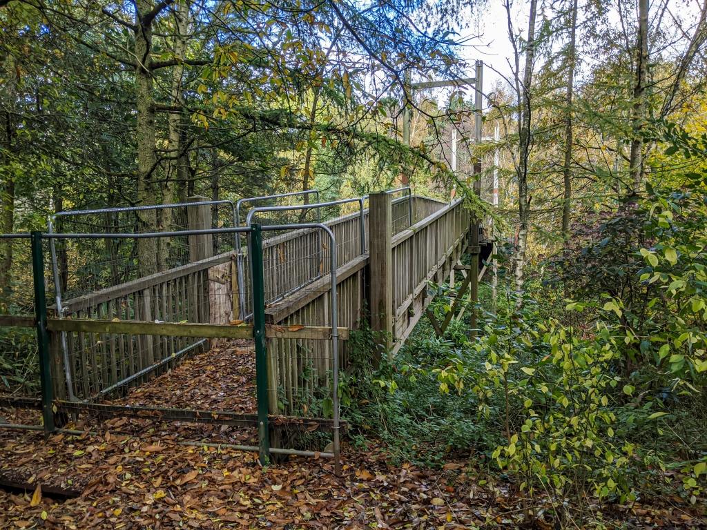 Festival footbridge, now closed off.