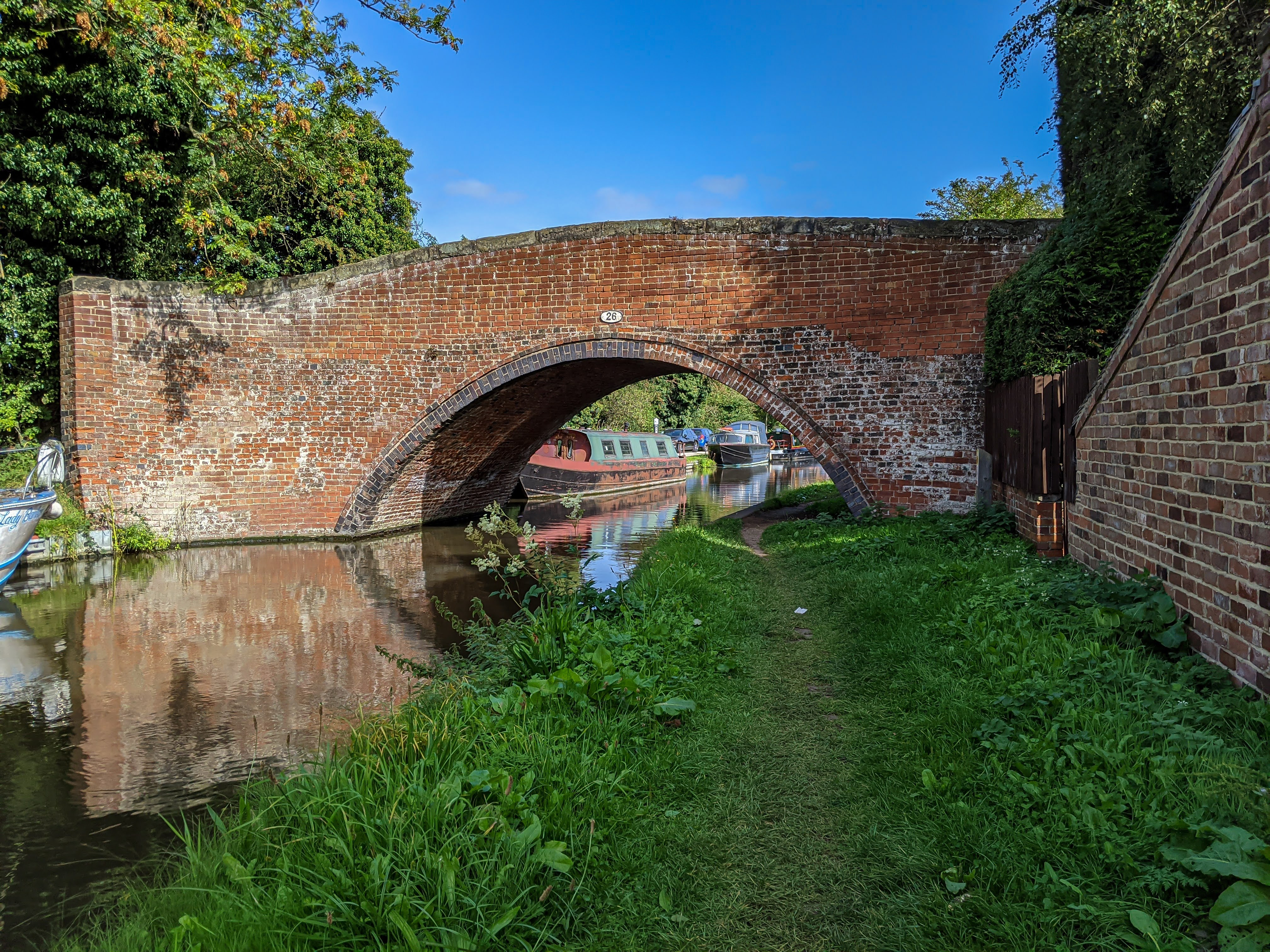 One of the many bridges over the canal.